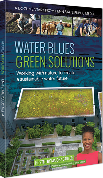 The Water Blues Green Solutions DVD Case featuring a photo of host Majora Carter