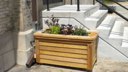 How to Build a Downspout Planter