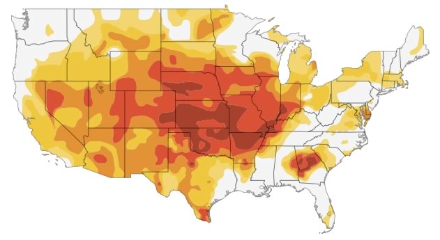 Interactive: Mapping the US Drought